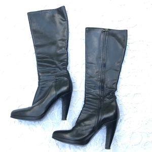 Prada Black Leather Knee High boots sz 7.5